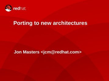 Porting to new architectures - The Linux Foundation