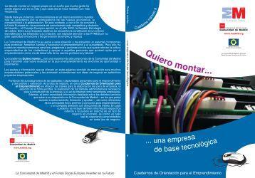 Quiero montar una empresa de base tecnologica - Madri+d