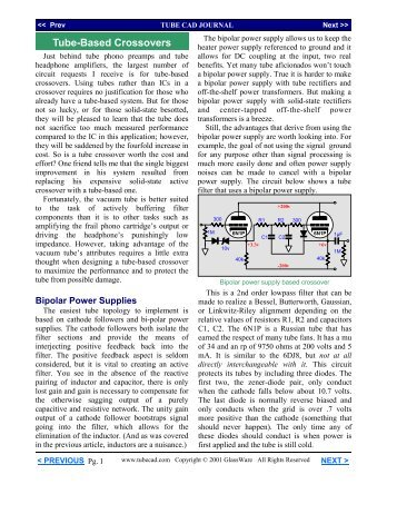 Tube-Based Crossovers article - Tube CAD Journal