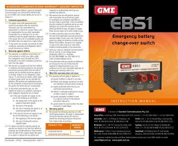 Instruction Manual - GME