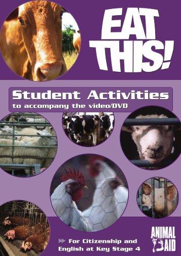 Unit 9 – Worksheet 1 - Animal Aid
