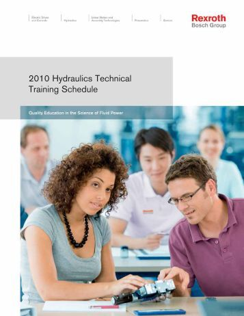 2010 Hydraulics Technical Training Schedule - Bosch Rexroth