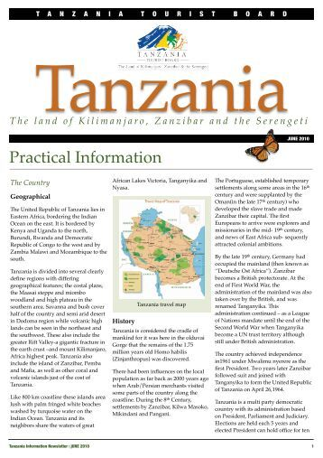 tourism marketing report for tanzania In addition to a lack of marketing and promotion, the tourism institutional organization of tourism in tanzania the tourism division, found within the ministry of.