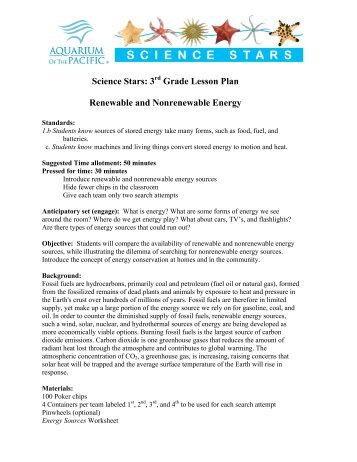 Energy worksheets for 3rd grade