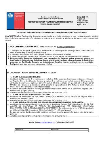 REQUISITOS DE VISA TEMPORARIA POR PRIMERA VEZ ...