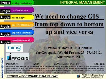 PROGIS AGROffice English - Geospatial World Forum