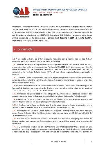 20140620091416-Edital do XIV Exame de Ordem Unificado