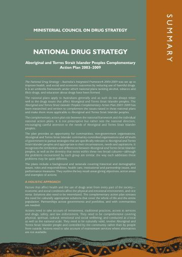 National Aboriginal And Torres Strait Islander Peoples Drug Strategy