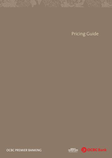 Download the full pricing guide for Premier Banking ... - OCBC Bank