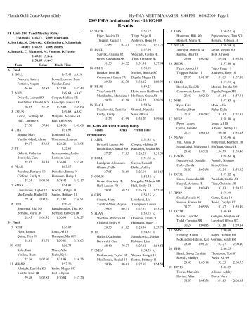 Gulf Coast Swim Team Hy T