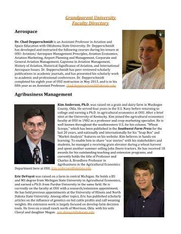 Faculty Directory - OSU Alumni Association