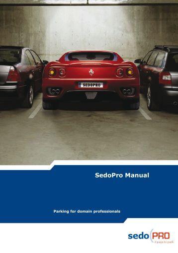 SedoPro Manual
