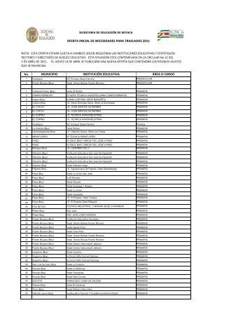 OPEC TRASLADOS 2011 FINAL 08042011.xlsx - Secretaria de ...