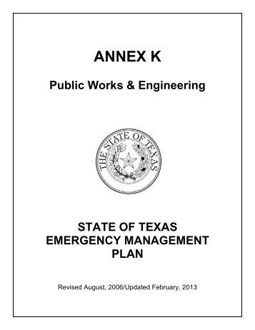 Annex K - Texas Department of Public Safety