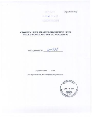 crowley liner services-ftd shipping lines space charter and sailing ...