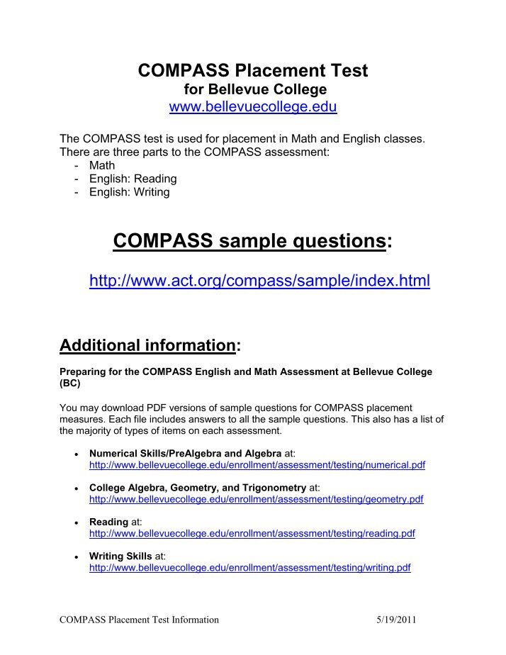 Compass writing essay test