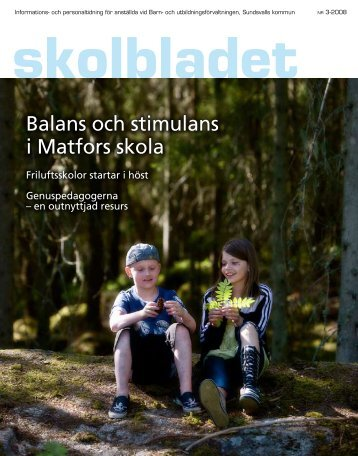Balans och stimulans i Matfors skola - Sundsvall