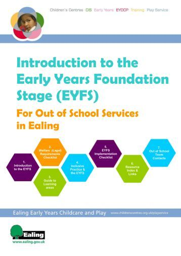 early years foundation stage guidelines The following guidance for this area of learning should be read alongside the  statutory framework for the early years foundation stage and development.