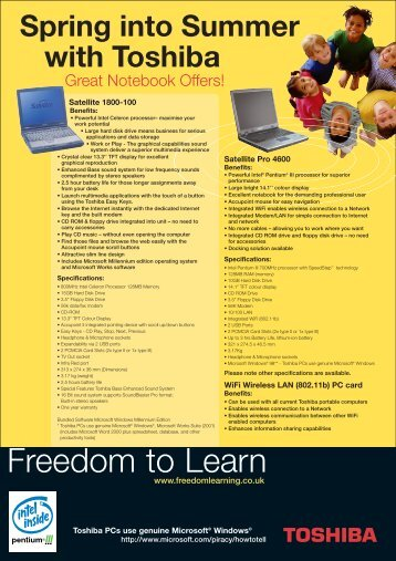 Freedom to Learn - Toshiba