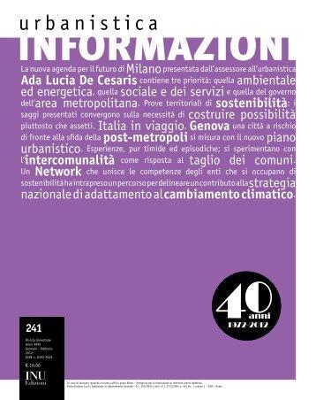 """Urbanistica Informazioni"" n. 241 - Università degli Studi di Firenze"