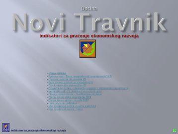 Indikatori za praćenje ekonomskog razvoja Općine Novi Travnik - REZ