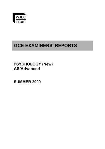 January 2009 psychology paper