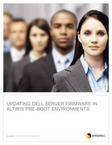 Updating Dell Server Firmware in Altiris Pre-Boot Environments