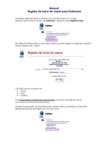 Registro Asistencia a Clases (Profesores)