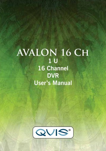 Avalon 16 Channel Manual - Qvis Security