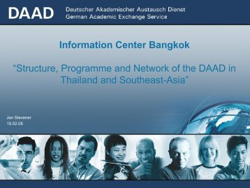Stevener_Structure, Programme and Network of the DAAD in Thailand ...