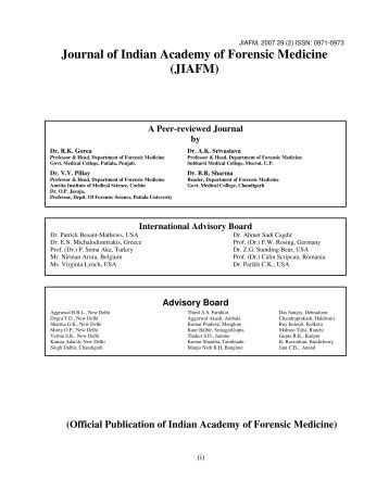 2007, Volume 29, Issue 2, April - forensic medicine