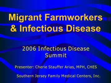 Migrant Health Outreach Program - New Jersey Learning ...