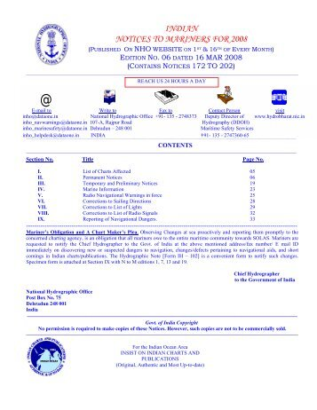 Edition 06 of 2008. - Indian Naval Hydrographic Department