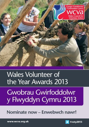 Wales Volunteer of the Year Awards 2013 Gwobrau Gwirfoddolwr y ...