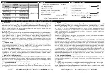 Exetel Direct Debit Request Form
