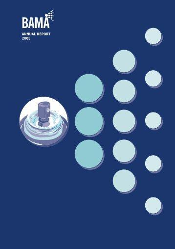 ANNUAL REPORT 2005 - British Aerosol Manufacturers' Association