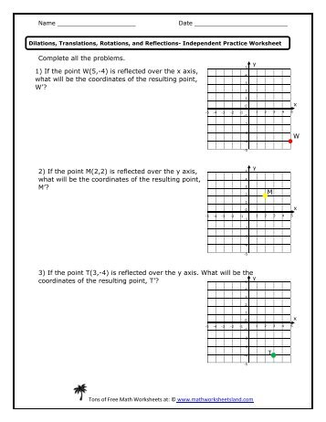 Dilations worksheet answers