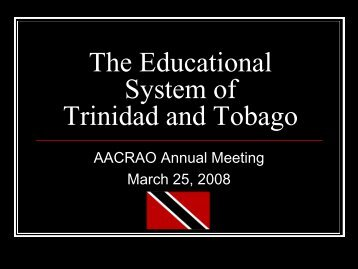 The Educational System of Trinidad and Tobago - AACRAO
