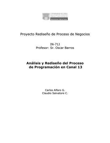 + Análisis y Rediseño del Proceso de Programación en un Canal de ...