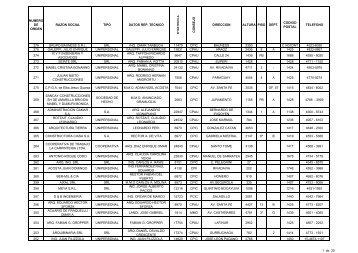 numero de orden razon social tipo datos rep - Buenos Aires Ciudad