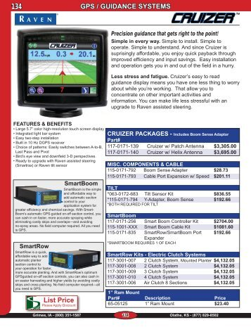 GPS / GUIDANCE SYSTEMS List Price