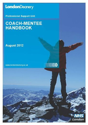 Coach-Mentee Handbook - Mentoring - London Deanery