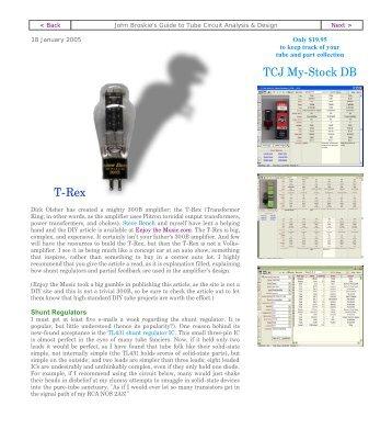 T-Rex TCJ My-Stock DB - Tube CAD Journal