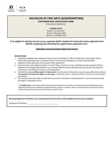 mature student supplementary application form trent university