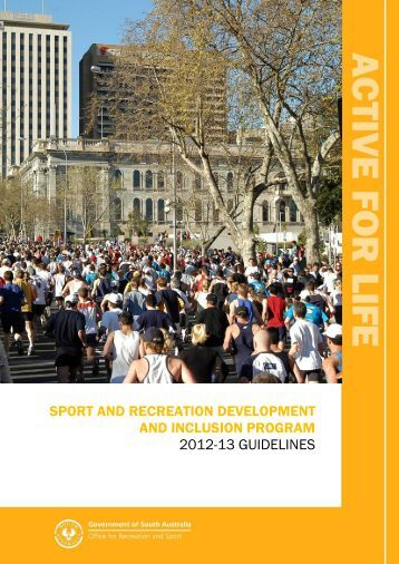 sport and recreation development and inclusion program 2012-13 ...