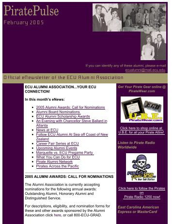 PiratePulse - East Carolina Alumni Association