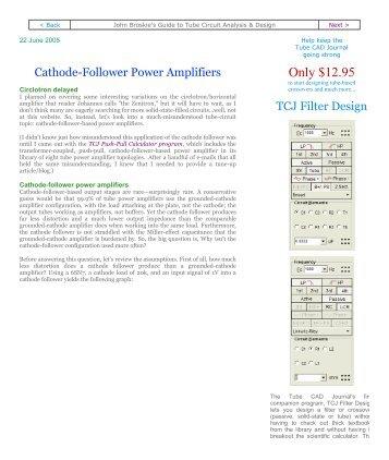 Cathode-Follower Power Amplifiers - Tube CAD Journal