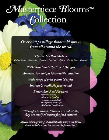 MasterpieceBlooms Collection - Pfeil & Holing