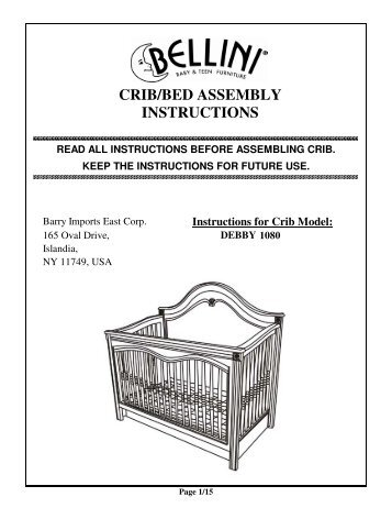 mamas and papas rialto cot bed instructions pdf