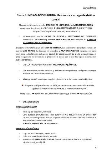 6. INFLAMACION AGUDA.pdf - VeoApuntes.com